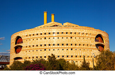 Torre Triana Modern Round Building Seville Andalusia Spain...