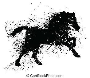 Grunge horse