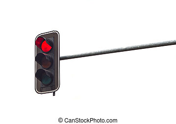 parada, luz, rojo, tráfico, luz