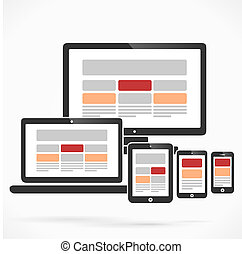Content layout - Website columns content layout design