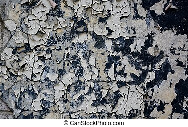 Grunge wall with peeling paint