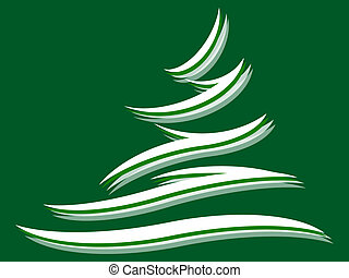 Fir tree - Symbol of a fir tree on a green background