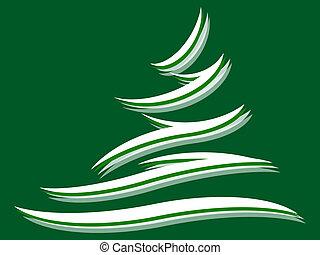 Fir tree - Symbol of a fir tree on a green background