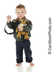 Toddler Pilot Waving Good-bye - An adorable preschool...
