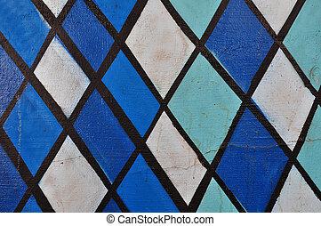 Extracto, azul, formas, patrón