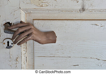 doors open that should be shut - Doll hand opening a closed...