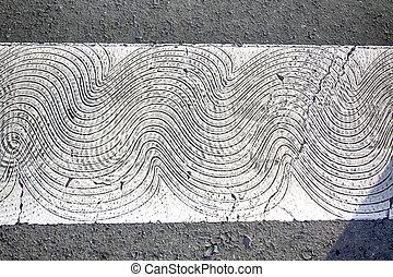 white zebra crossing for non-slip scratch