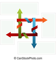 Folded Arrow Chart - An image of a 3d folded arrow chart