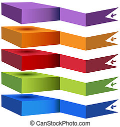 Stacked Category Chart - An image of a 3d stacked category...