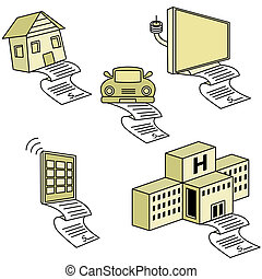 Bill Debt Icons