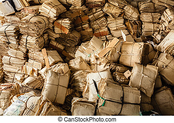 Paper Waste For Recycle - Closeup At Paper Waste Background...