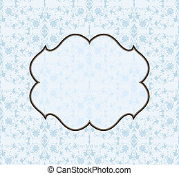 Vector seamless background pattern and frame