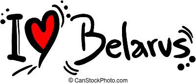 Belarus love - Creative design of belarus love