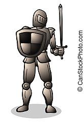 Gold warrior - Creative design of gold warrior