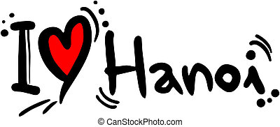Hanoi love - Creative design of hanoi love