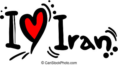 Iran love - Creative design of iran love