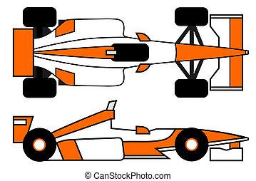 Orange car - Creative design of orange car
