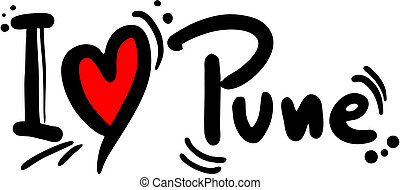 Pune love - Creative design of pune love