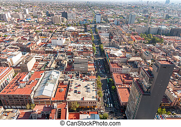 Mexico City View - Wide angle view of Mexico City
