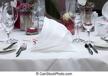 Formal place setting with luxury linen