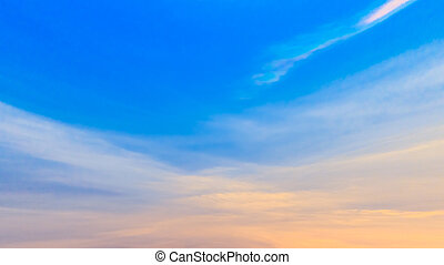 Colorful sky in twilight time