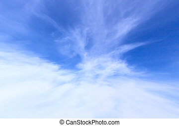 Clear blue sky background - Clear blue sky with clouds in...