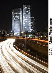Tel Aviv night city