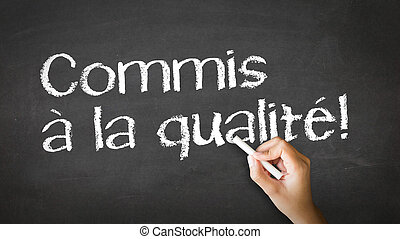 Commited to Quality In French - A person drawing and...
