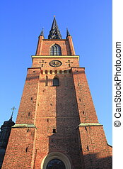 The Riddarholmen Church in the old Town of Stockholm, Sweden