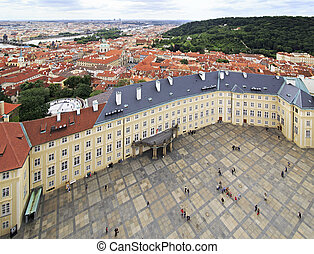 Third courtyard of Prague Castle (view from Saint Vitus...
