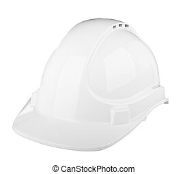Hard Hat - Hard hat used on construction site in white...