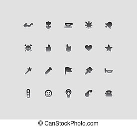 Miscellaneous interface icons. Vector illustration.
