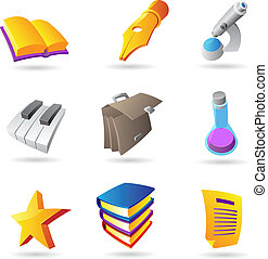 Icons for education and knowledge
