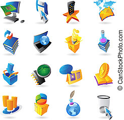 Icons for technology and computer interface Vector...