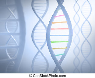 DNA Sequence - DNA sequences in parallel with a light in the...
