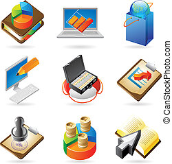 Icon concepts for business - Vector concept icons for...
