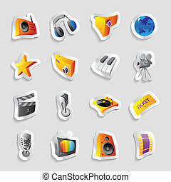Icons for media and music