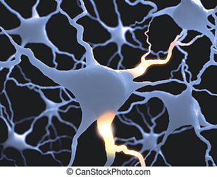 Neurones - Inside the brain. Concept of neurons and nervous...