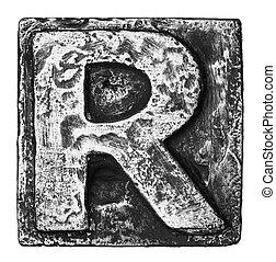 Metal letter
