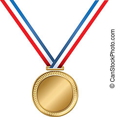 Worlds Greatest Medal - A gold medal on a striped ribbon