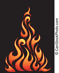 Flame Designs - Illustration of Ready to Print Flame...