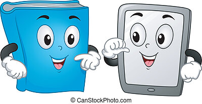 Book and Tablet Mascot