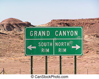 GRAND CANYON CHOICE - GRAND CANYON DIRECTION SIGN