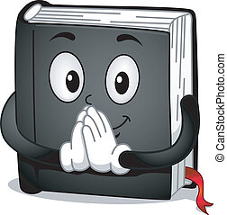 Prayer Book - Mascot Illustration Featuring a Book with...