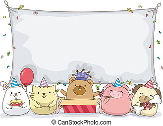 Animal Birthday Banner