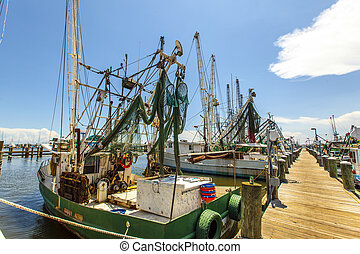 boats for shrimps fishing in Pass Christian - PASS...