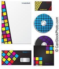 Colorful company business set design