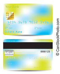 Colorful credit card design template