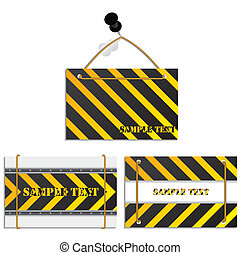 Cool construction textured label set