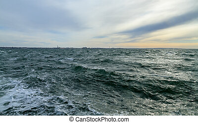 Waves in the Strait of Oslash;resund - Waves in the Strait...